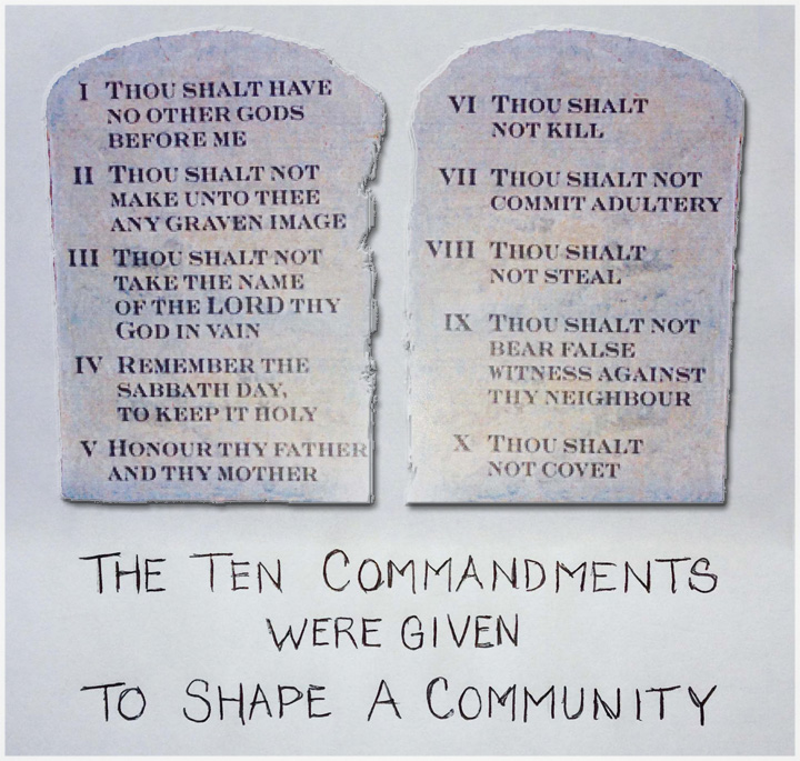 understanding the ten commandments The idea is that necessity for the human being to ascend from level to level until he reaches and is established in the highest level, the sabbath.